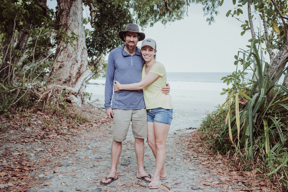 Managed to get to Cape Tribulation for our annual camping trip / unplugged getaway. Got the 5 year old to get proof that we were there together.