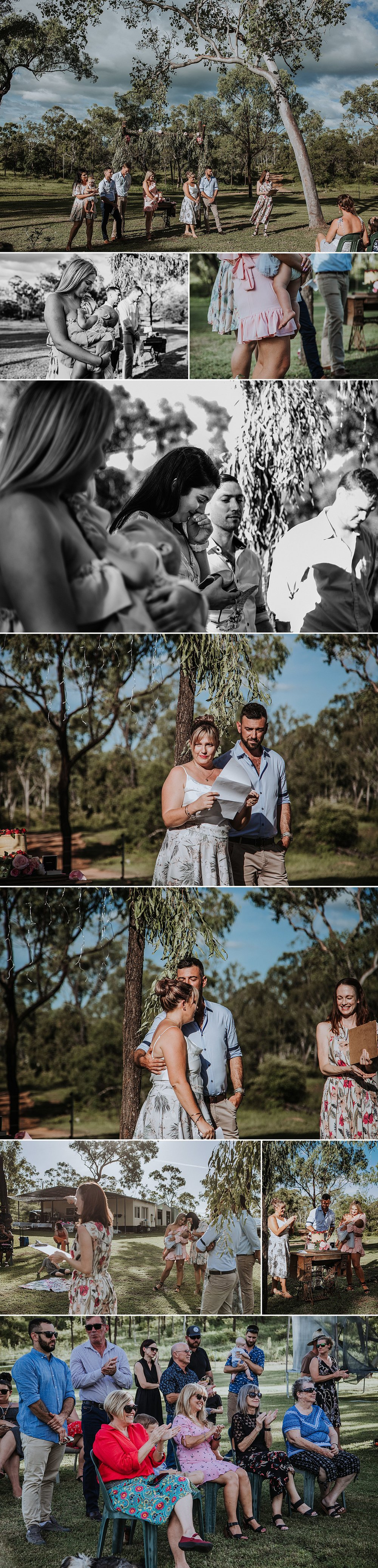 Outdoor-name-celebration-baby-christening-documentary photographer-Townsville-Burdekin