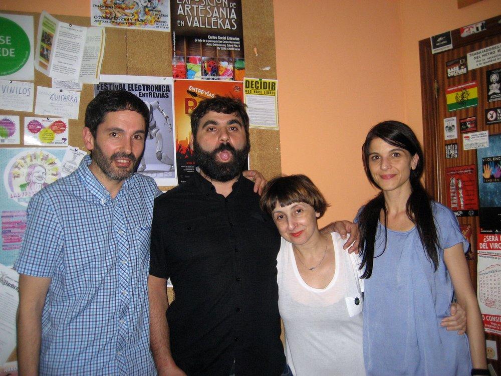 Los cuatro realizadores OEX