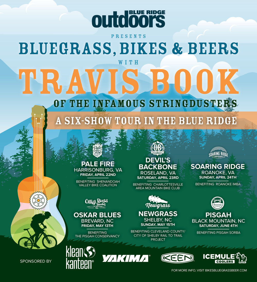 """Thanks to our Devil's Backbone hosts, all 5K registrants will receive a $5 coupon, which can be used for that day's lunch, at the new Meadows beer garden or in the main restaurant. After lunch, the free """"Bikes, Bluegrass, and Beers""""festival kicks off at the Backbone Basecamp and Meadows."""