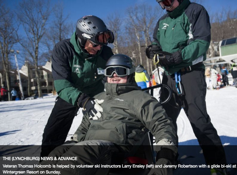 "With memory loss and permanent nerve damage to his shoulder and arm, Chadd Jackson visited a similar event with his family after being discharged from the hospital five years ago.  He had skied as a kid, having been born in Colorado, where he still has family, but his injuries had undermined his balance.  ""With all the nerve damage to the shoulder, the arm, I couldn't see myself doing it,"" he said.  READ THE ARTICLE IN THE NEWS & ADVANCE HERE"