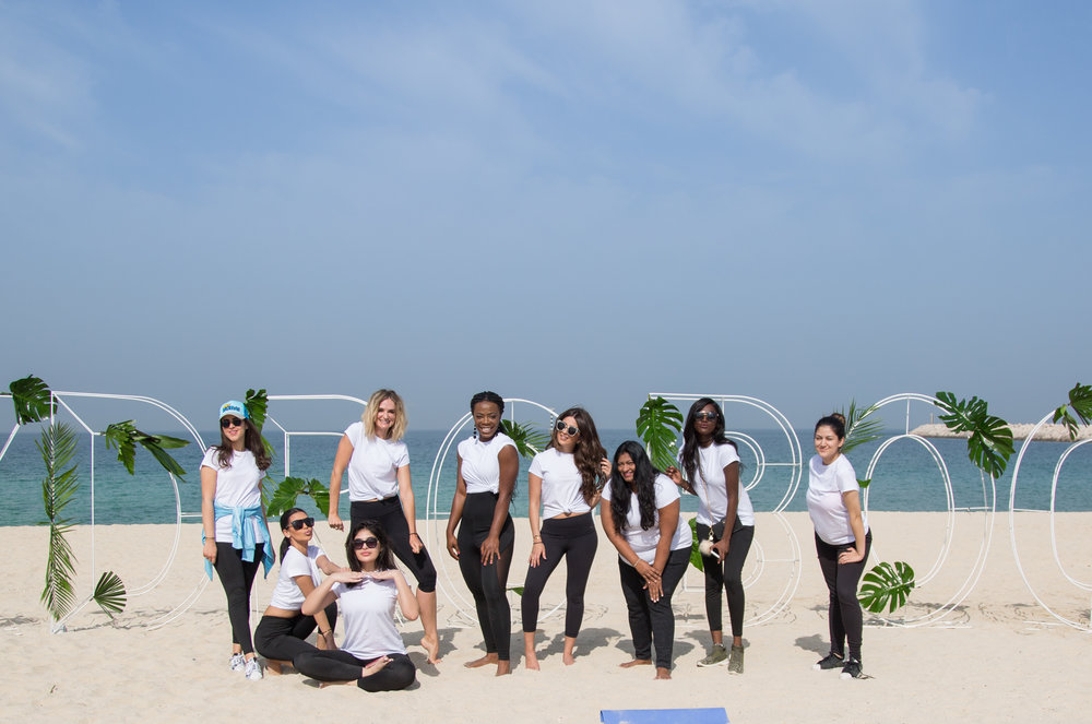 Neutrogena® launched the new City Shield products with a morning fitness session for 'city girls'.jpg