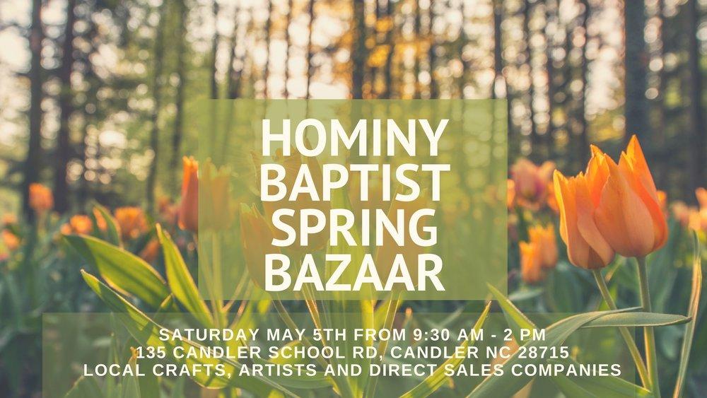 Hominy Baptist Spring Bazaar Promotion.jpg