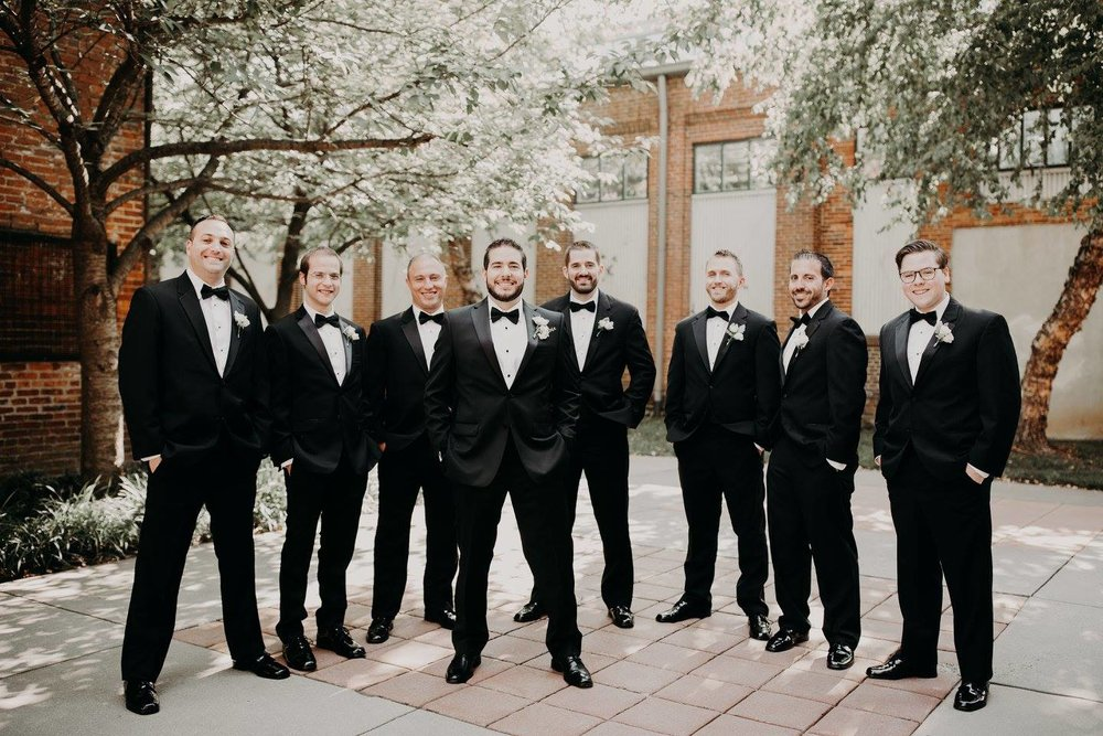 Groomsman black tux Mt Washington Dye House.jpg