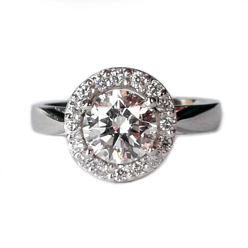 Platinum Brilliant Halo ring
