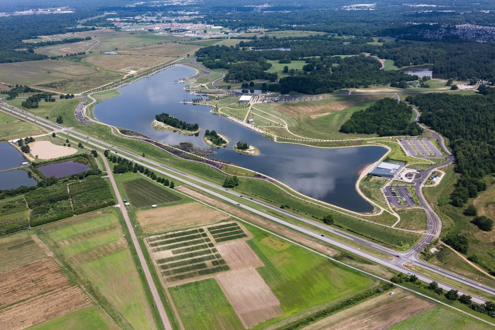 The 4500 acre Shelby Farms Park