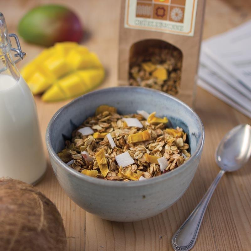 KNUSPERMÜESLI - Cranberry/Walnuss & Mango/KokosNEU: Kaffee-Müesli