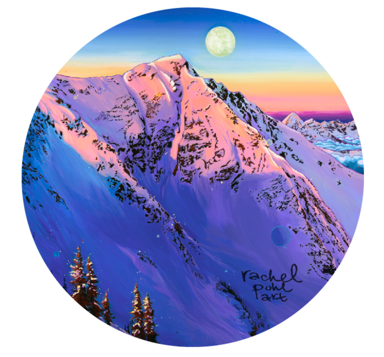 "Rachel Pohl Art ""American Fork Twins"" 3"" Circle Sticker"