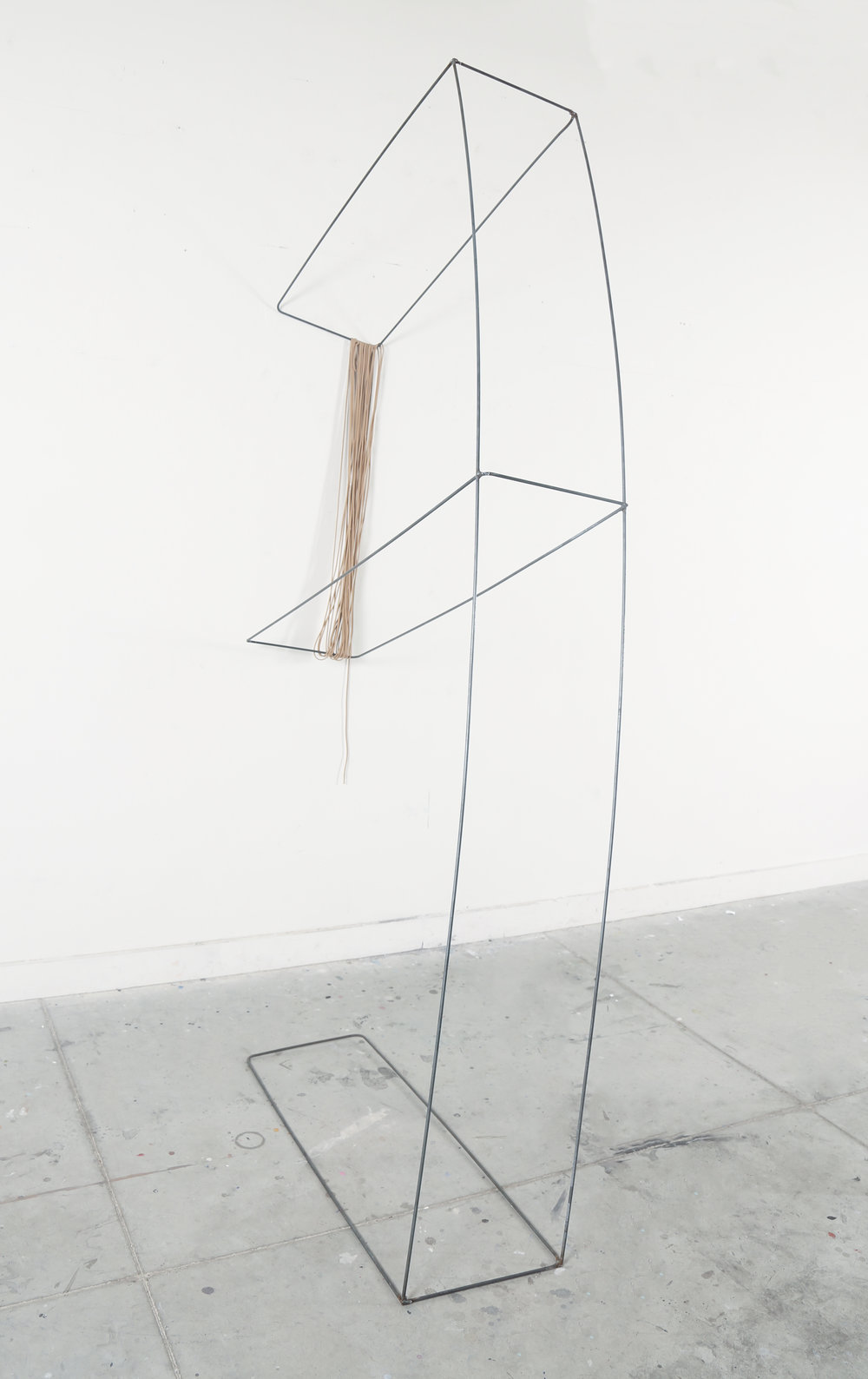And Yet You Were There, Perhaps Just For An Instant ,2016,Steel pipe and para cord, 8' X 4'X 1'