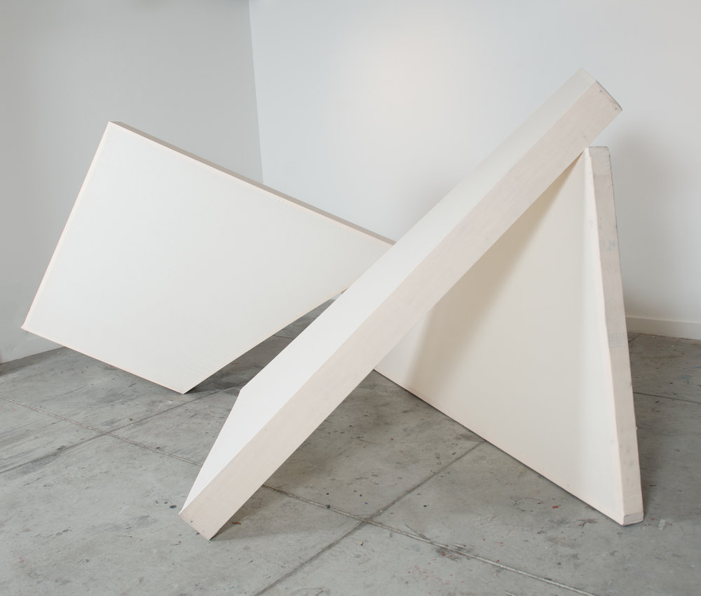 That The Body Is A Sheet Of Plain Glass Through Which The Soul Looks Straight And Clear  (View 2), 2016, Muslin and wood, Variable Dimensions