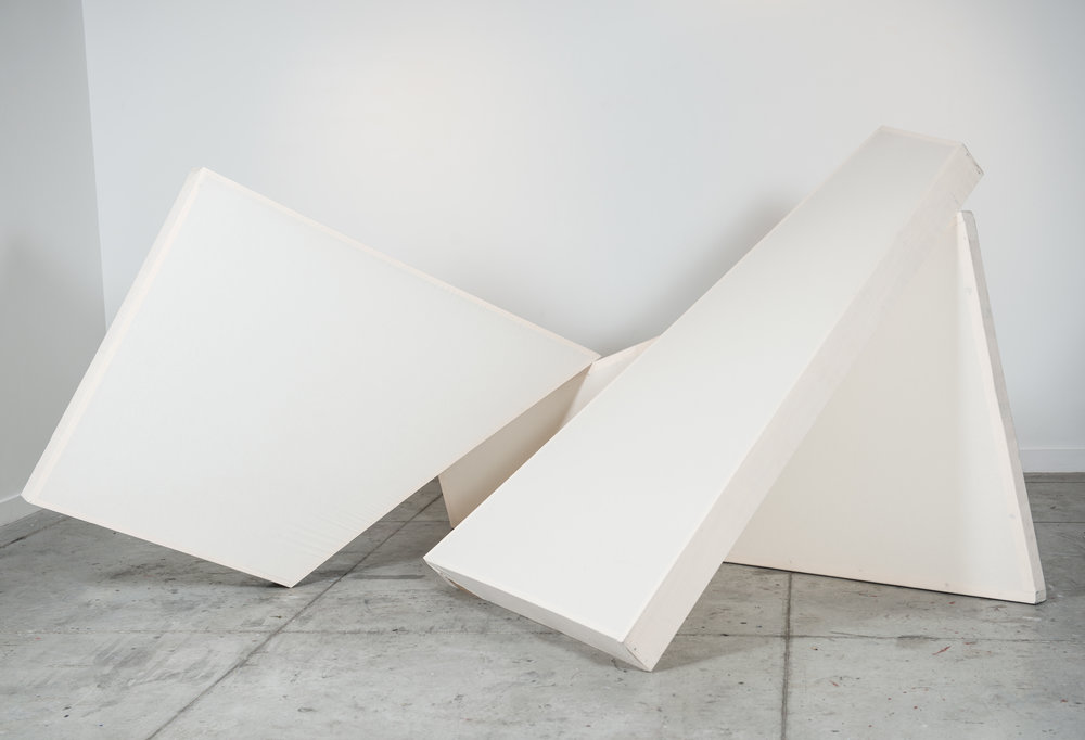 That The Body Is A Sheet Of Plain Glass Through Which The Soul Looks Straight And Clear  (View 1), 2016, Muslin and wood, Variable Dimensions