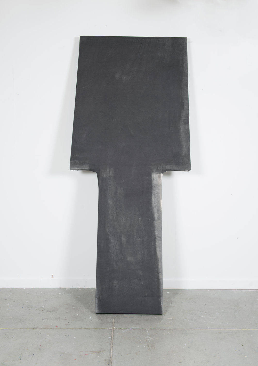 The Philosopher's Turret , 2016, Charcoal, muslin, wood, 4' X 8'