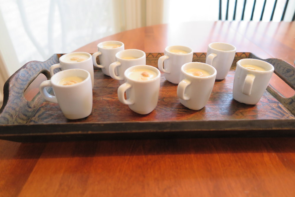 New England Clam Chowder Soup Shots