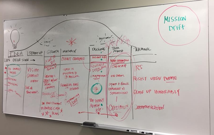 Strategic Planning - The cycle of financial sustainability and impact of the mission is constantly turning.  I work with nonprofit management teams to assess long-term priorities and plan accordingly.