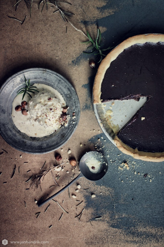 Chocolate tart with hazelnut and rosemary ice-cream 2.jpeg