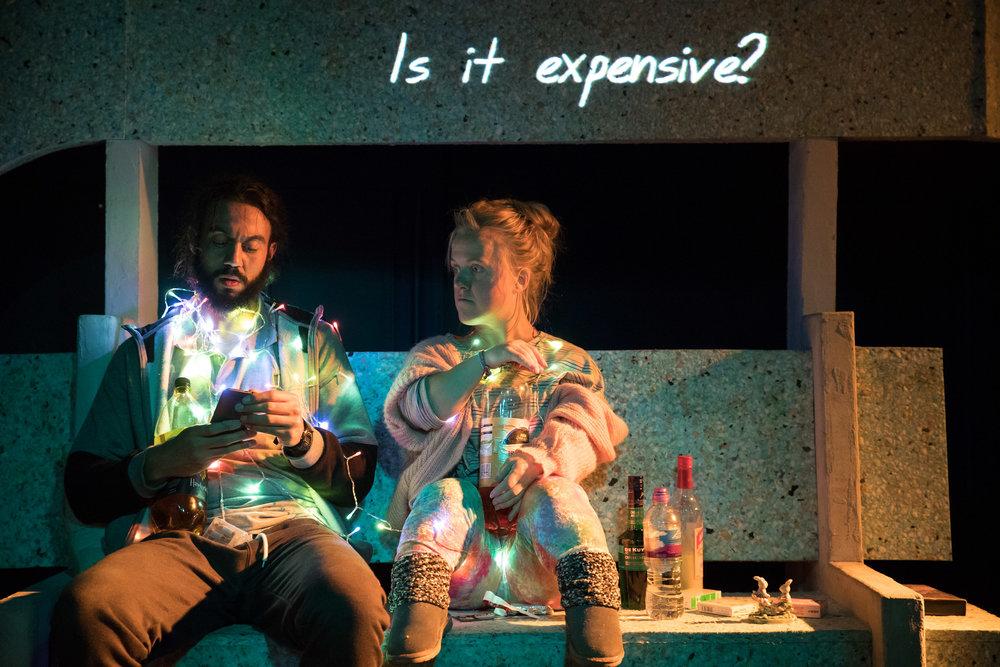 Cosmic Scallies. Reuben Johnson (Shaun) & Rachel Denning (Dent) 2. Photo Jonathan Keenan.jpg