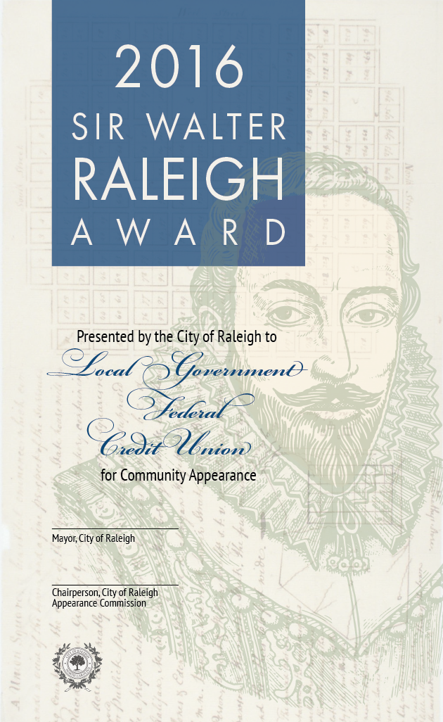Contest winner: My design was chosen after an open call to update the Sir Walter Raleigh award for community appearance.