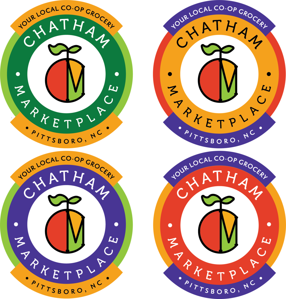 Chatham Marketplace branding: I designed a new visual identity for a local co-op grocery store.