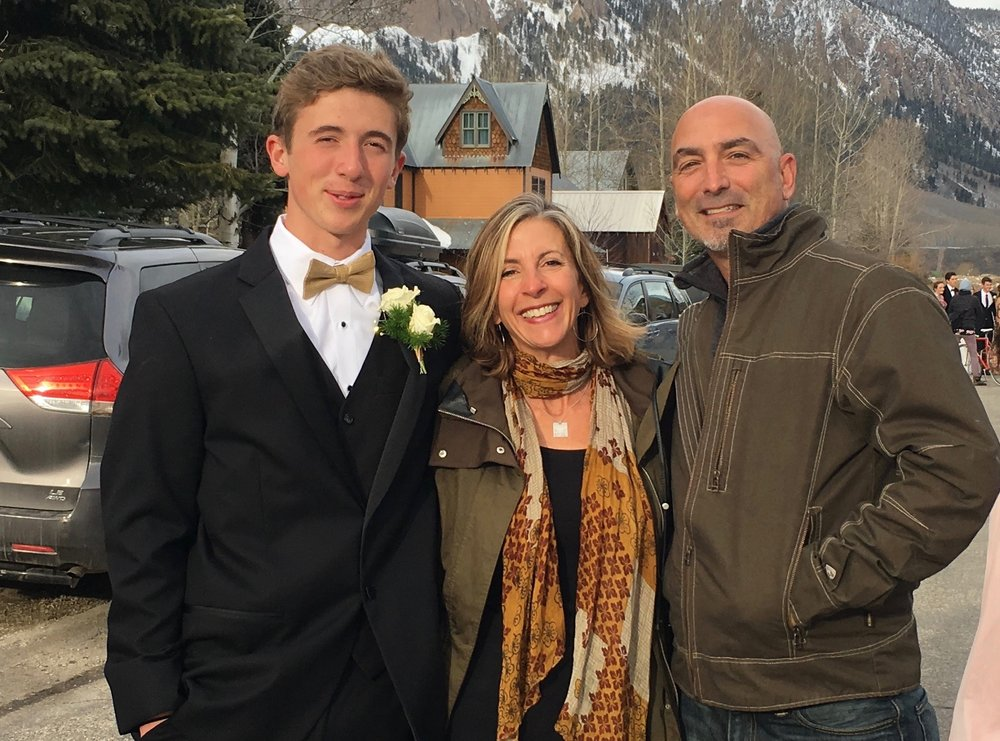 This is me with my two favorite guys - son Ryan, and partner, Ralph. Ryan doesn't always wear a tux.