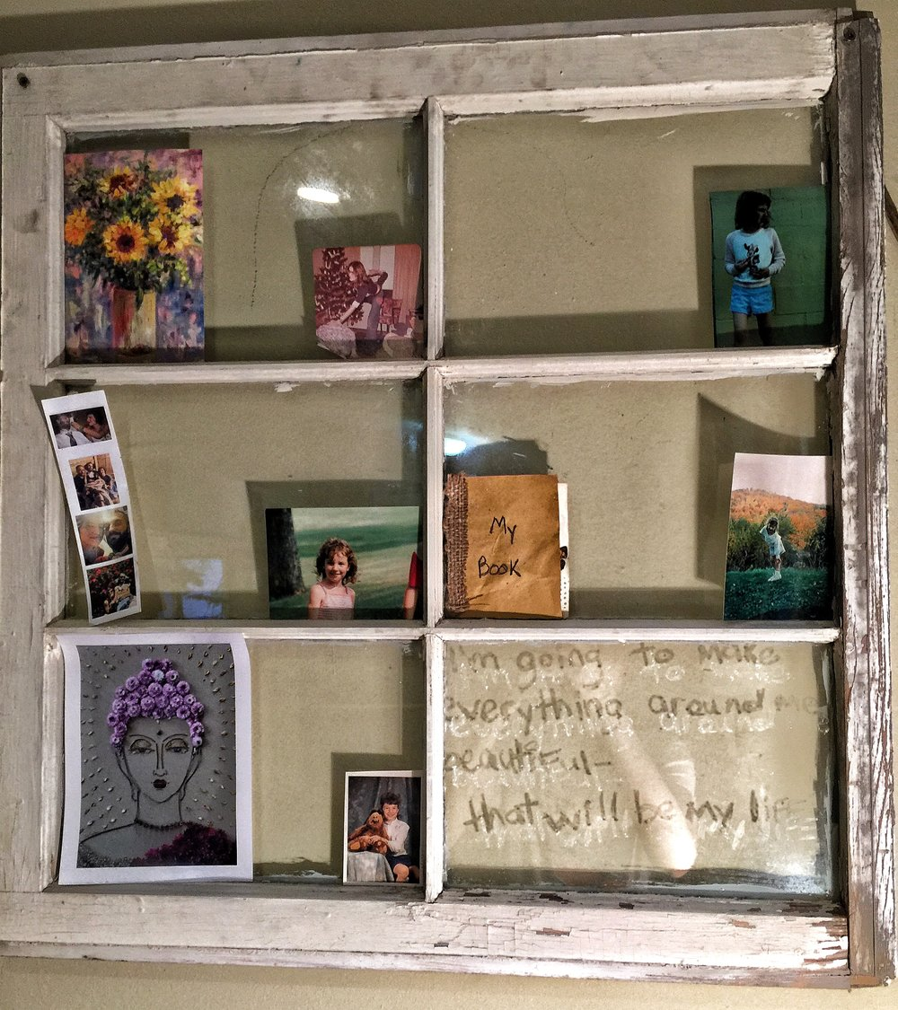 Inspiration window for my book, in the writing nook.