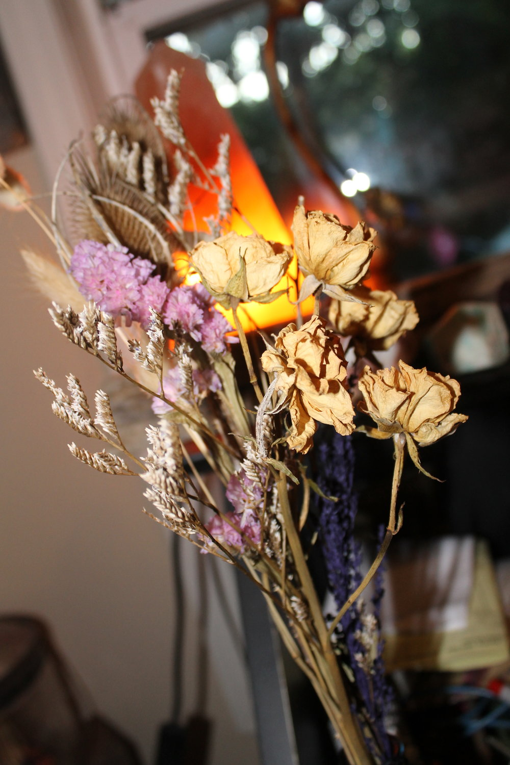One of maybe 30 dried floral bouquets in the house. It's a small obsession.