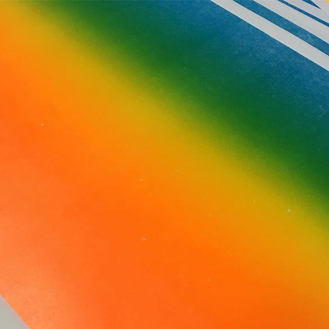 🔥🍏💎💠🔰🔸#letterpress #rainbowroll