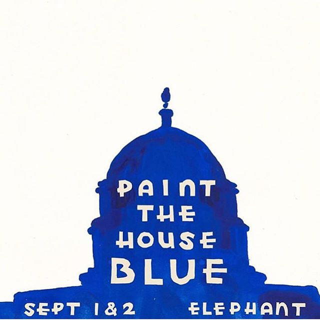Get some prints and other art at a wonderful fundraiser to support progressives get elected. This weekend! 3325 Division St. LA. @paintthehouseblue