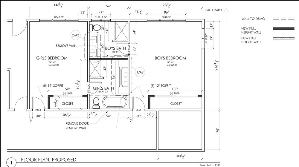 FLOOR PLAN FOR BASEMENT REMODEL.