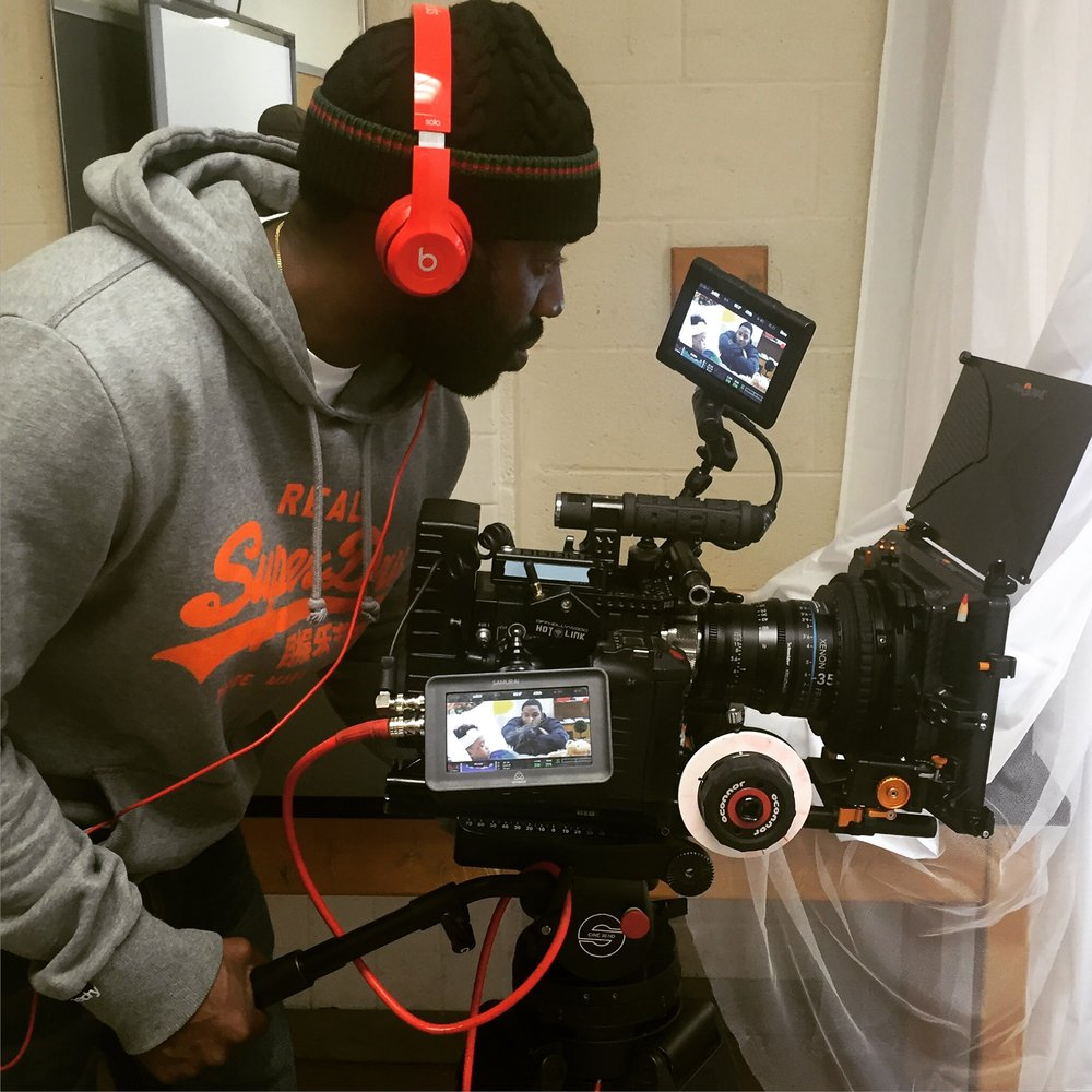 Director-Writer-Producer, Juwan Lee on set.