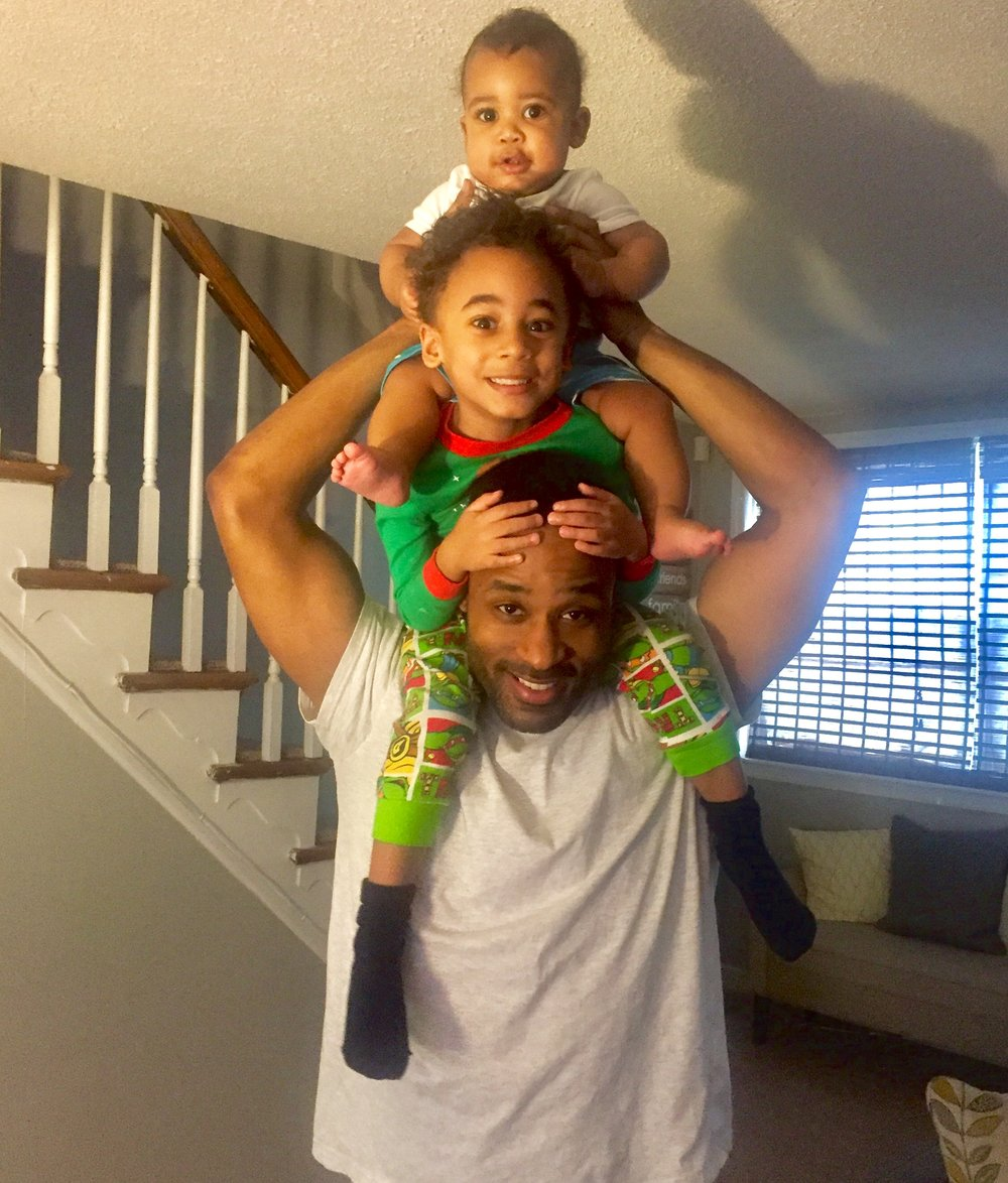 Lamont Brown with his sons LJ and Landon.
