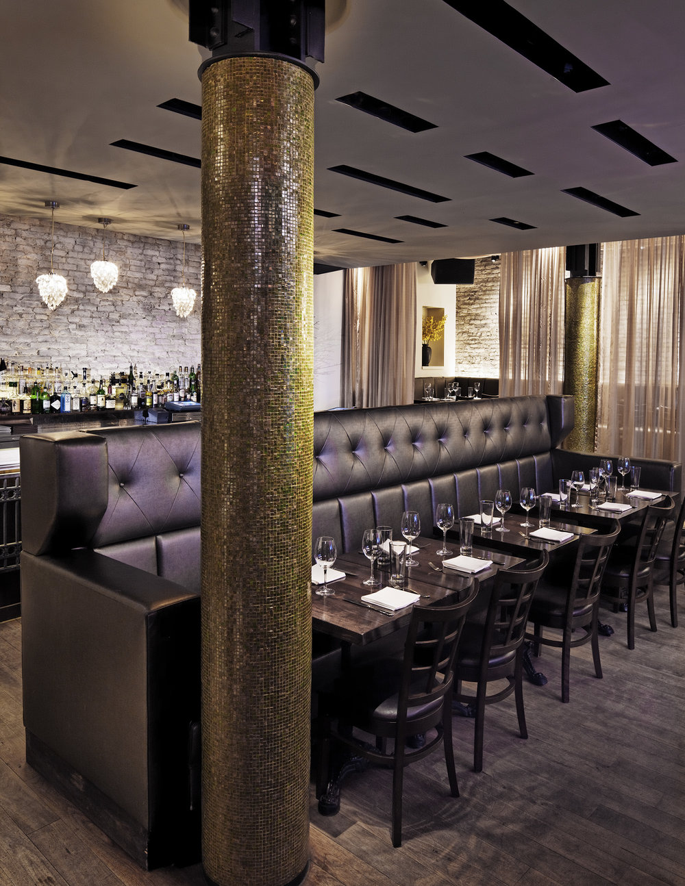 travertine restaurant — damon liss design | manhattan interior design