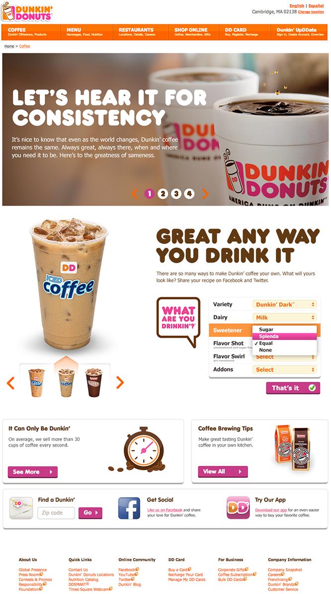 dunkin donuts alyssa ackerman portfolio strategy