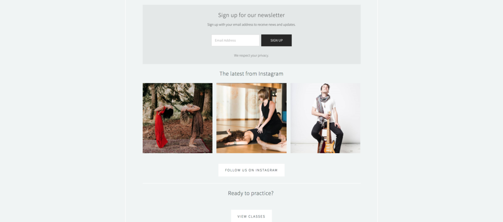 yogapearl website design image