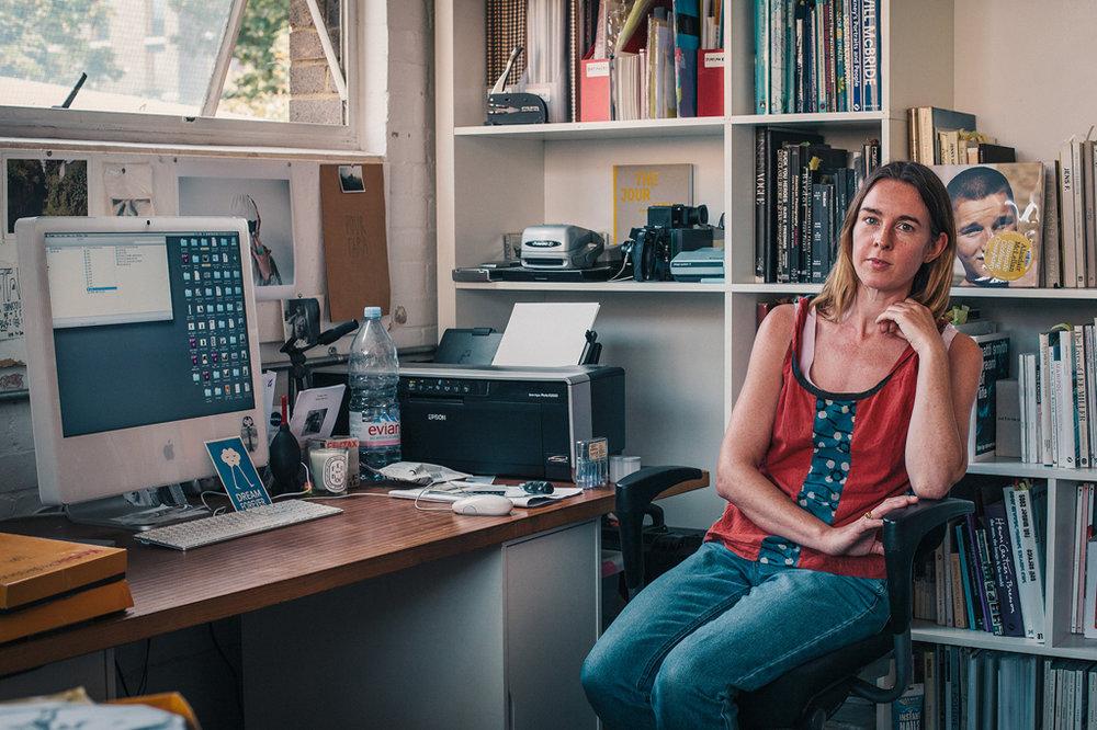 Tara in her studio