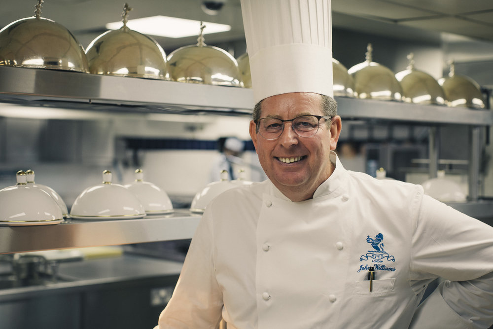 John Williams MBE, executive chef at The Ritz London.