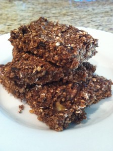 Carob Oat Protein Bars