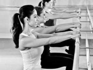 Barre workout squats