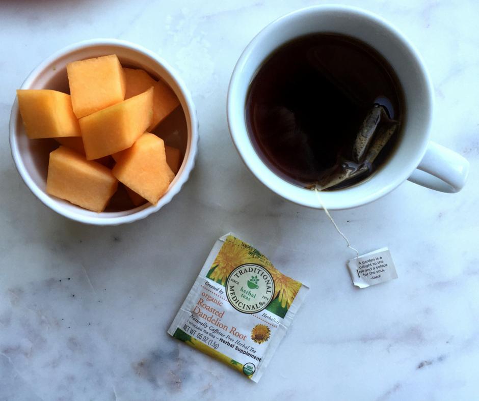 Cantaloupe and dandelion tea FB post