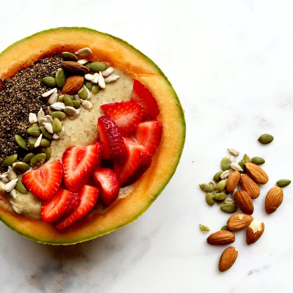 Cantaloupe Smoothie Bowl