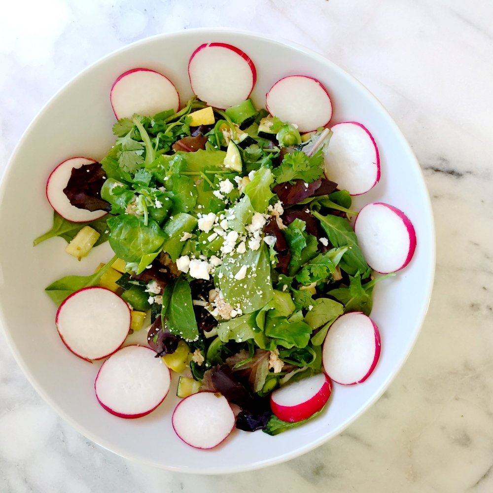 Radish Salmon & Date Salad