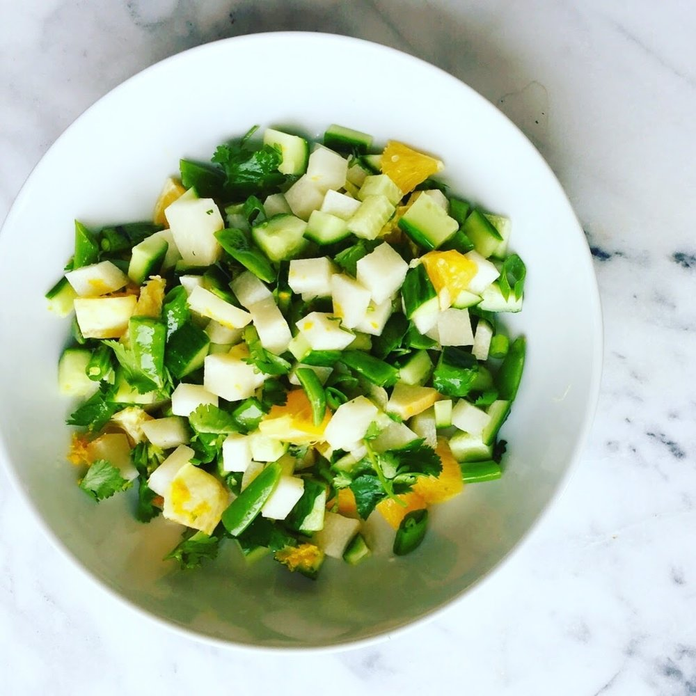 Orange Infused Jicama Salad