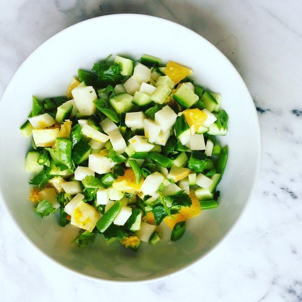 Orange Infused Jicama Salad