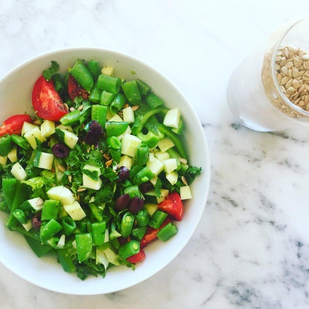 Greek Sesame Seed Salad