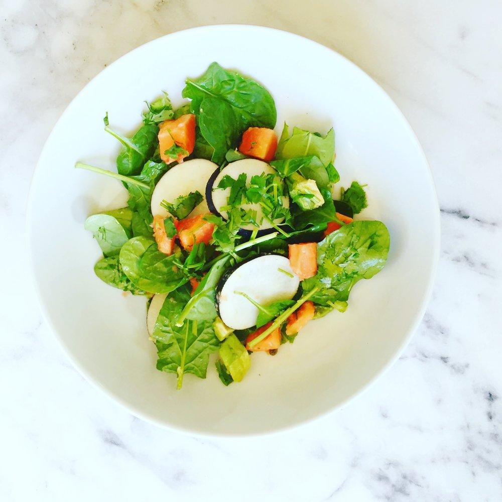 Black Radish & Papaya Salad