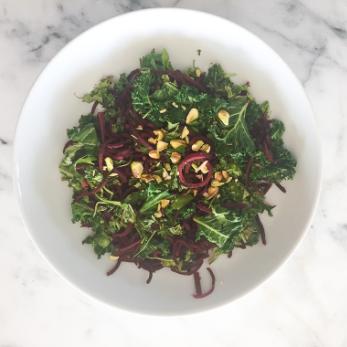 Beet Noodle Kale Salad