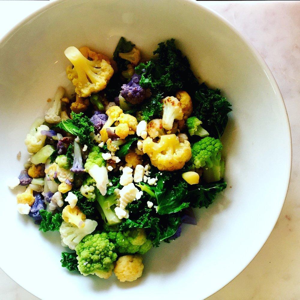 Kale Cauliflower Salad
