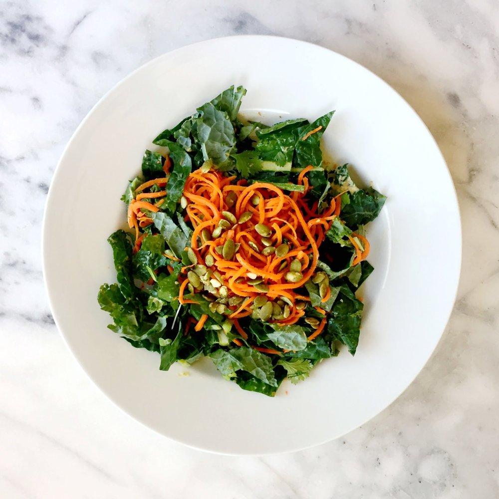 Carrot Noodle Kale Bowl