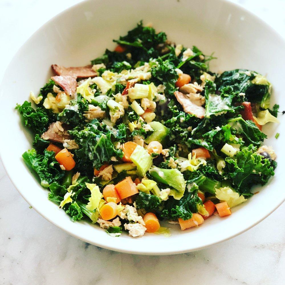 Kale & Turkey Bacon Breakfast Salad
