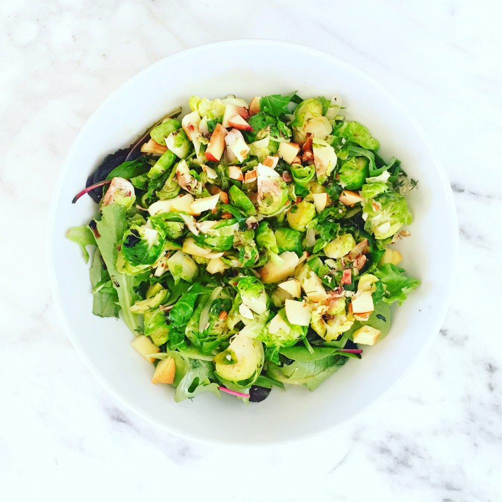 Apple & Brussel Sprouts Salad