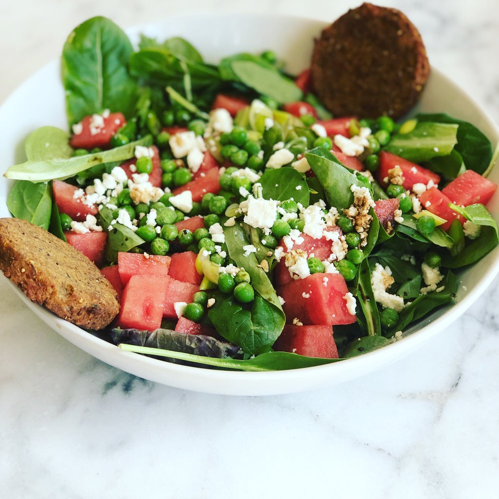 watermelon and pea spring salad.JPG